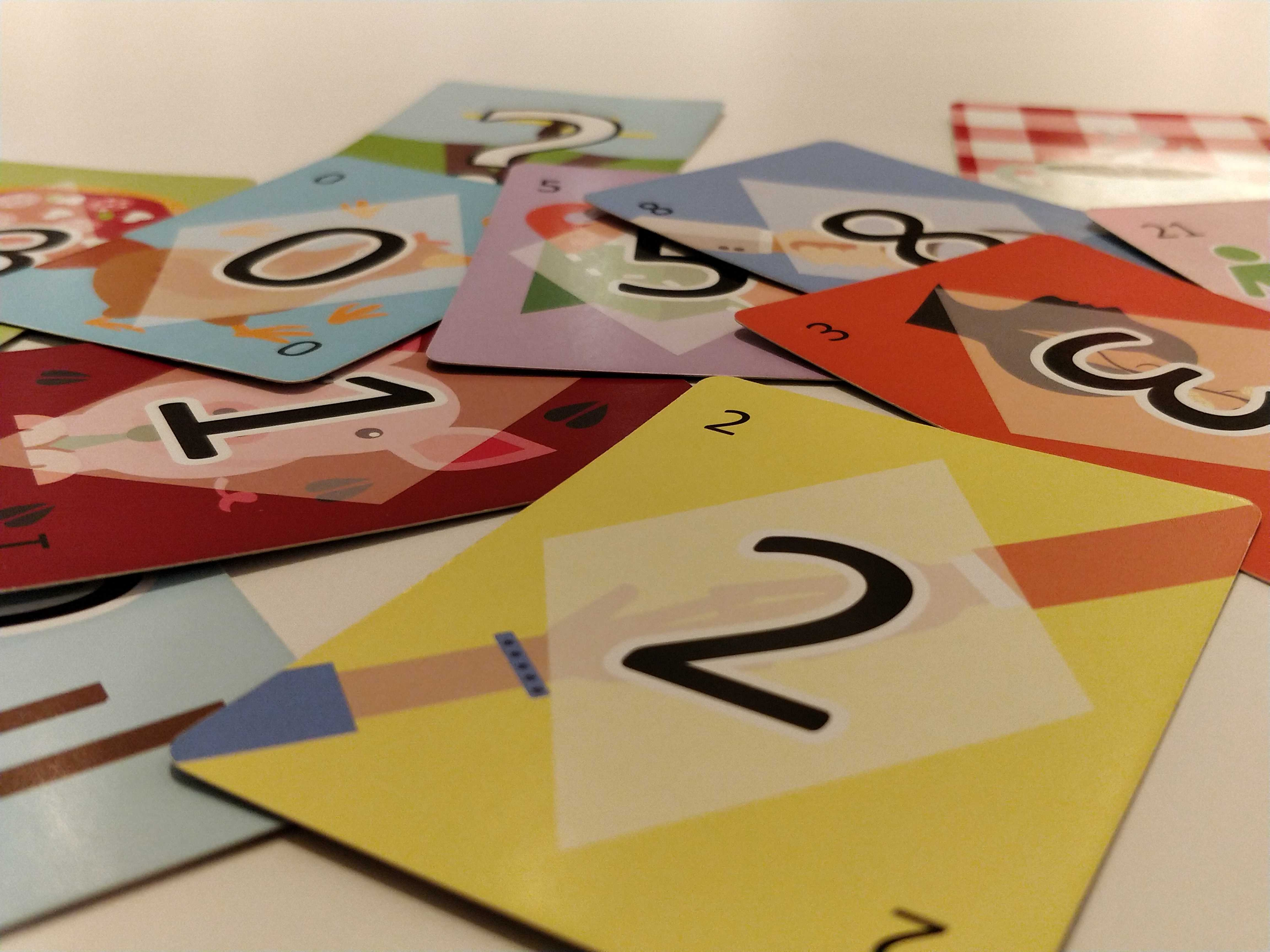 photo of planning poker cards showing numbers from the Fibonacci sequence