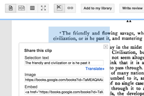 Text selection from a [page image](https://books.google.com/books?id=TaMEAQAAIAAJ&dq=centaur&pg=PA4#v=onepage&q&f=false) in the Google Books interface. *(click to view animation)*